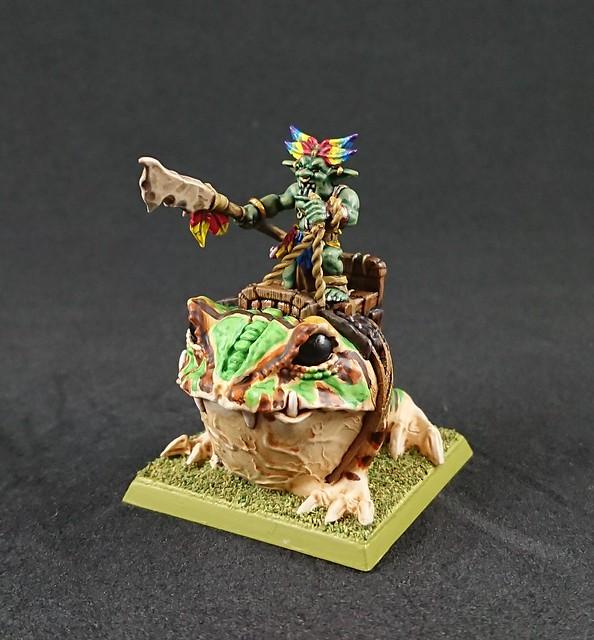 Jodri Forest Goblin Chieftain riding Blubber-Nugget: Front right