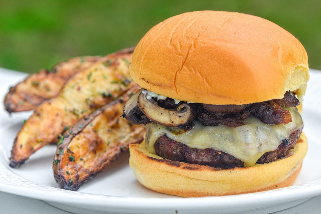 Mushroom and Swiss Burgers