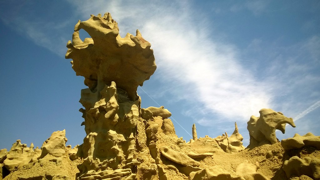 Sandstone formation, Fantasy Canyon  8/18/2015