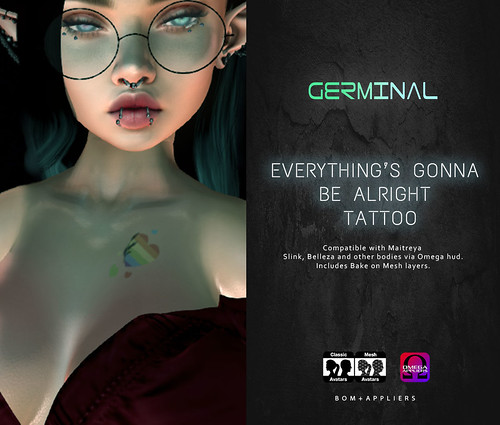 GERMINAL - EVERYTHING'S GONNA BE ALRIGHT TATTOO