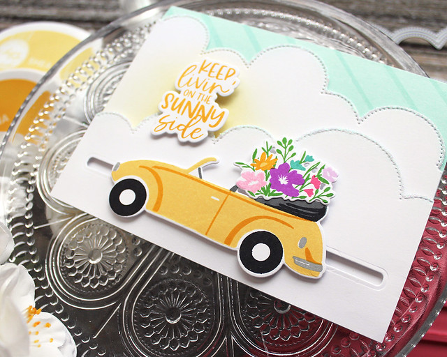 LizzieJones_TheGreetery_April2020_TopDownDay_PainterlyStripes_SilverLiningDie_SunnySideCard2