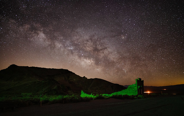 Rhyolite night scene