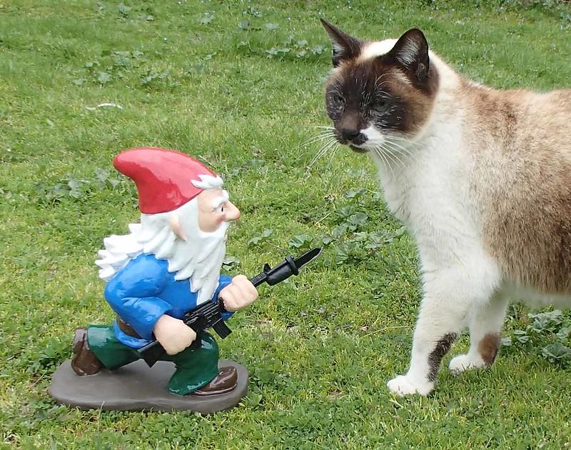 Bayonet Charging Garden Gnome