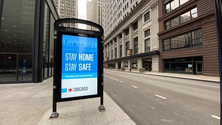 Jackson Avenue at Federal Plaza, Stay Home City of Chicago Ad | by Raed Mansour