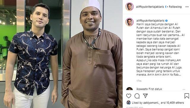 Aliff Syukri & Ali Puteh Kini Berdamai