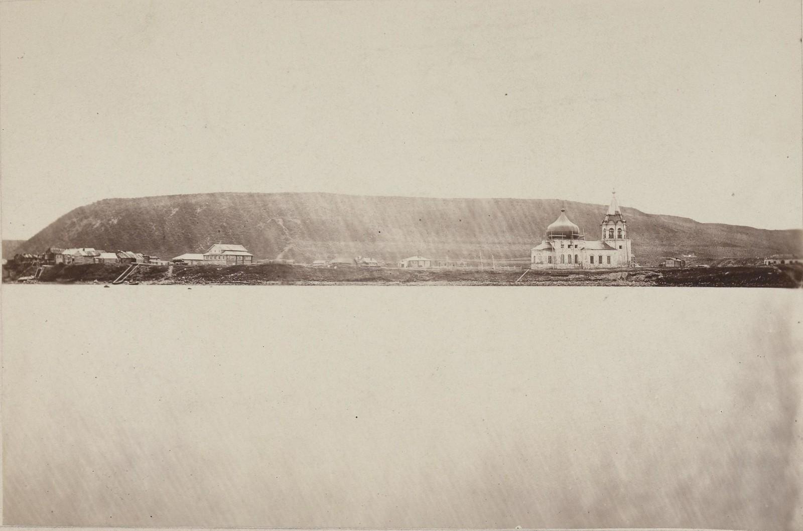 01. 1867. Кола. Панорама города. Идет восстановление Благовещенской церкви после бомбардировки Колы английским корветом «Миранда» в 1854 году