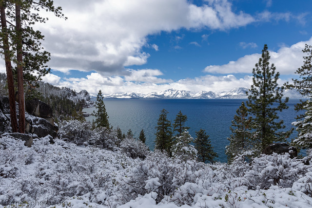 Storm Cloud and Lake Tahoe