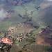 La campagne mauricienne vue d'avion