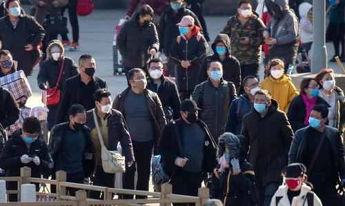 北京-火車站-武漢肺炎-網路照片