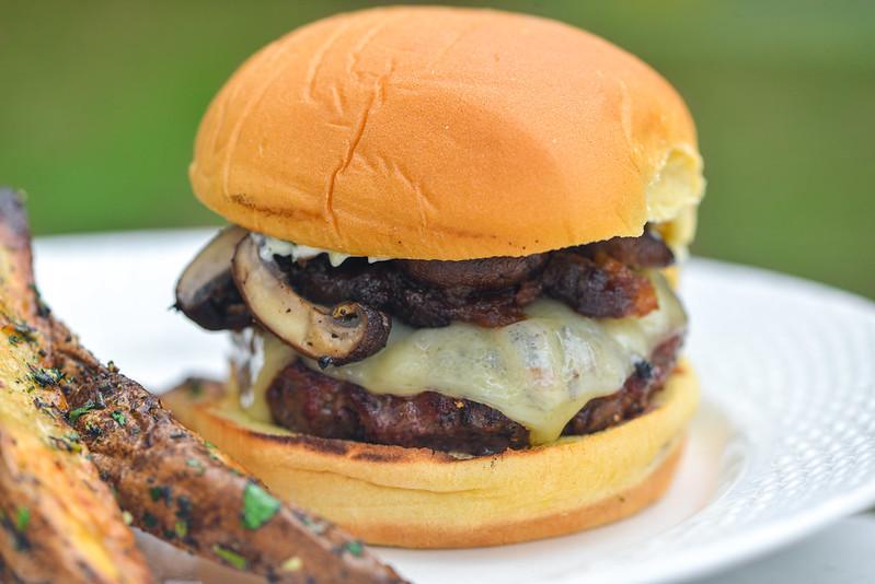 Mushroom Swiss Burgers