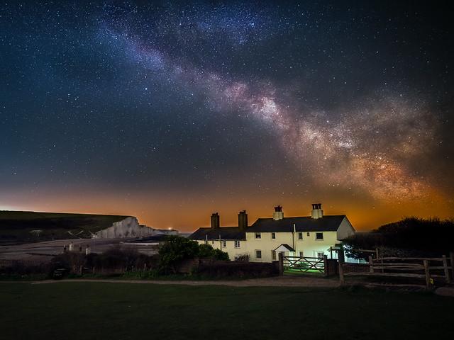 Coastguard Cottages under the Milky Way