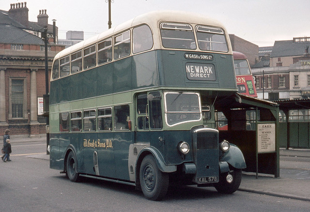 W. Gash & Sons . Newark , Nottinghamshire . DD1 KAL578 . Huntingdon Street Bus Station , Nottingham . Good Friday 27th-March-1970 .