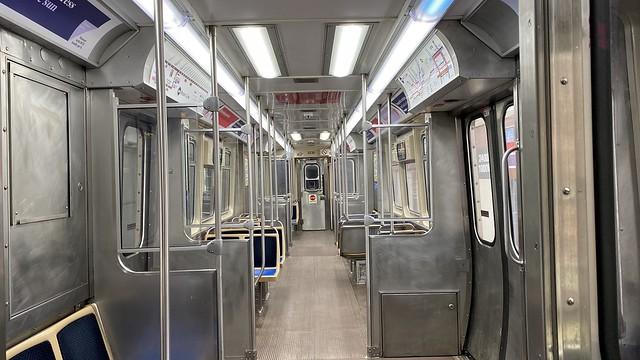 Empty CTA L Brown Line Car