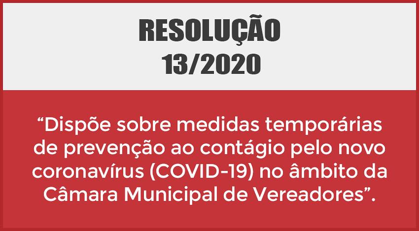 Resolução 13/2020