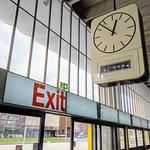Big clock in Preston Bus Station