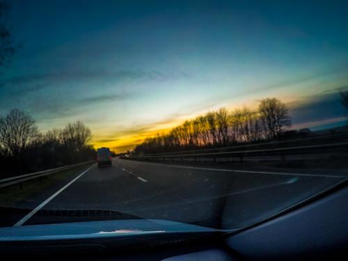 england gbr goonhavern perranzabuloe unitedkingdom geo:lat=5034682334 geo:lon=512095372 geotagged 20200316182438 gopro europe britain cornwall perranporth road sunset driving a30