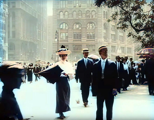 After a LOT of trial and error, the time machine in my basement finally worked! I decided to visit Manhattan on the first try. What a great experience! Admittedly, the folks were a bit taken aback with my informal clothes from 2020. New York. Aug 1911