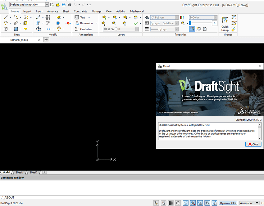 Working with DS DraftSight Enterprise Plus 2020 full license