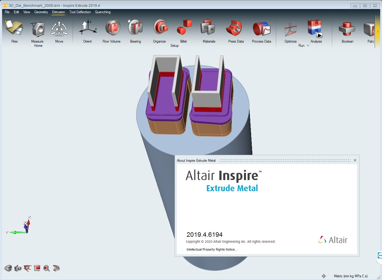 Working with Altair Inspire Extrude Metal 2019.4 full license