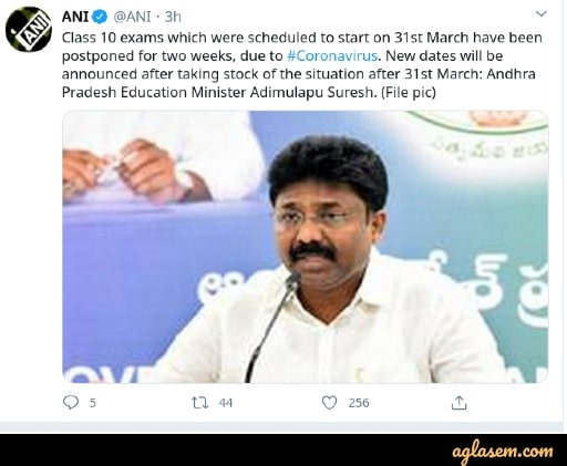 AP SSC Exam 2020 Postponed due to COVID-19 Lockdown