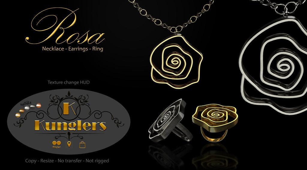 KUNGLERS – Rosa set vendor