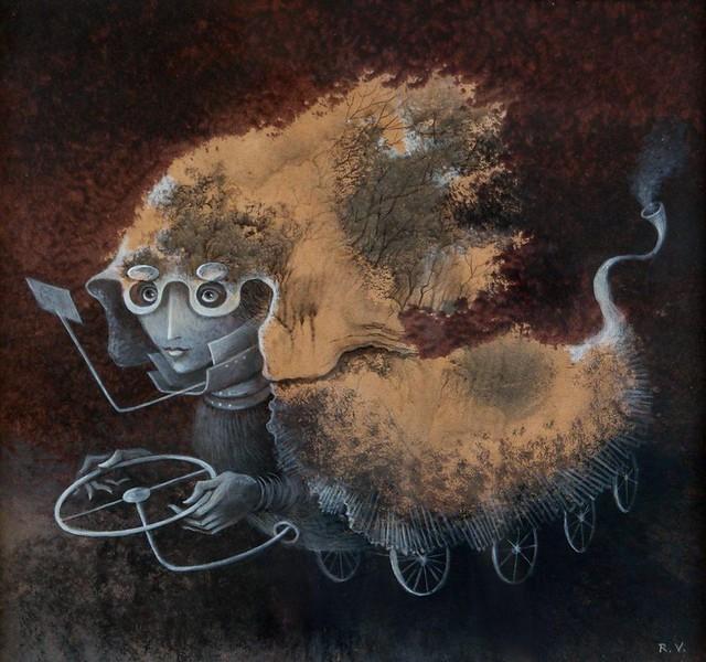 Remedios Varo, Ass des Rades - Ace of the wheel