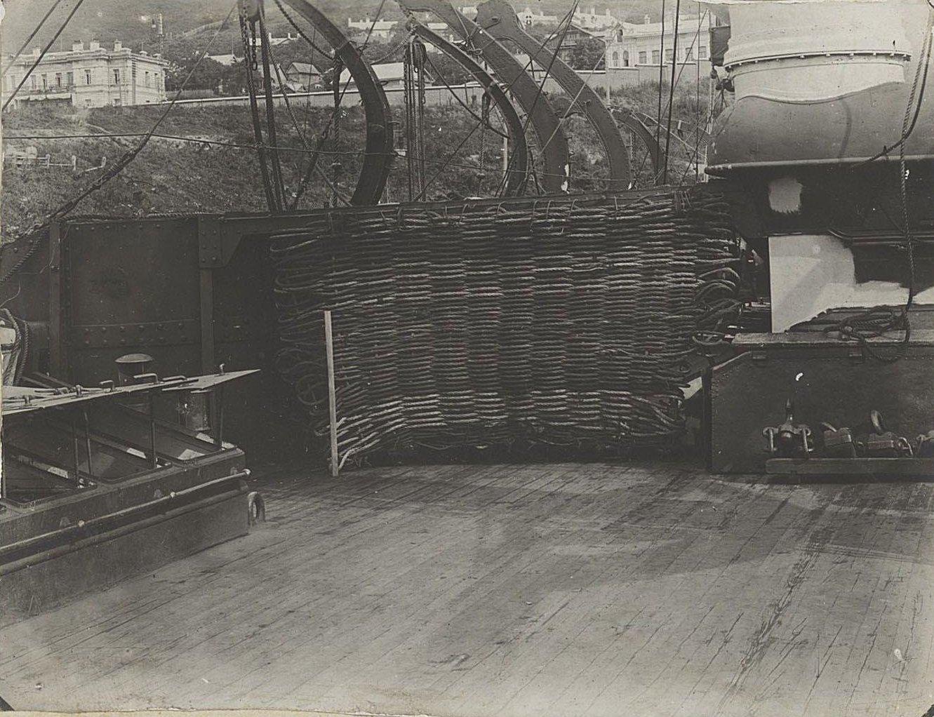 Вид части палубы корабля. 1905 г.