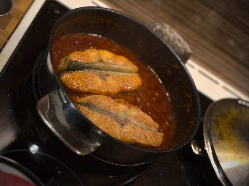Salmon with Craimeh Sauce