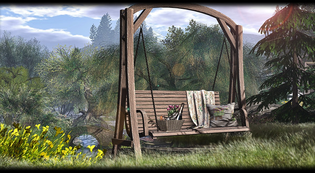 MERAK - Spring Hanging Bench