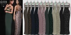 Glitter JASMINE Fitmesh Dress with Filifree Top