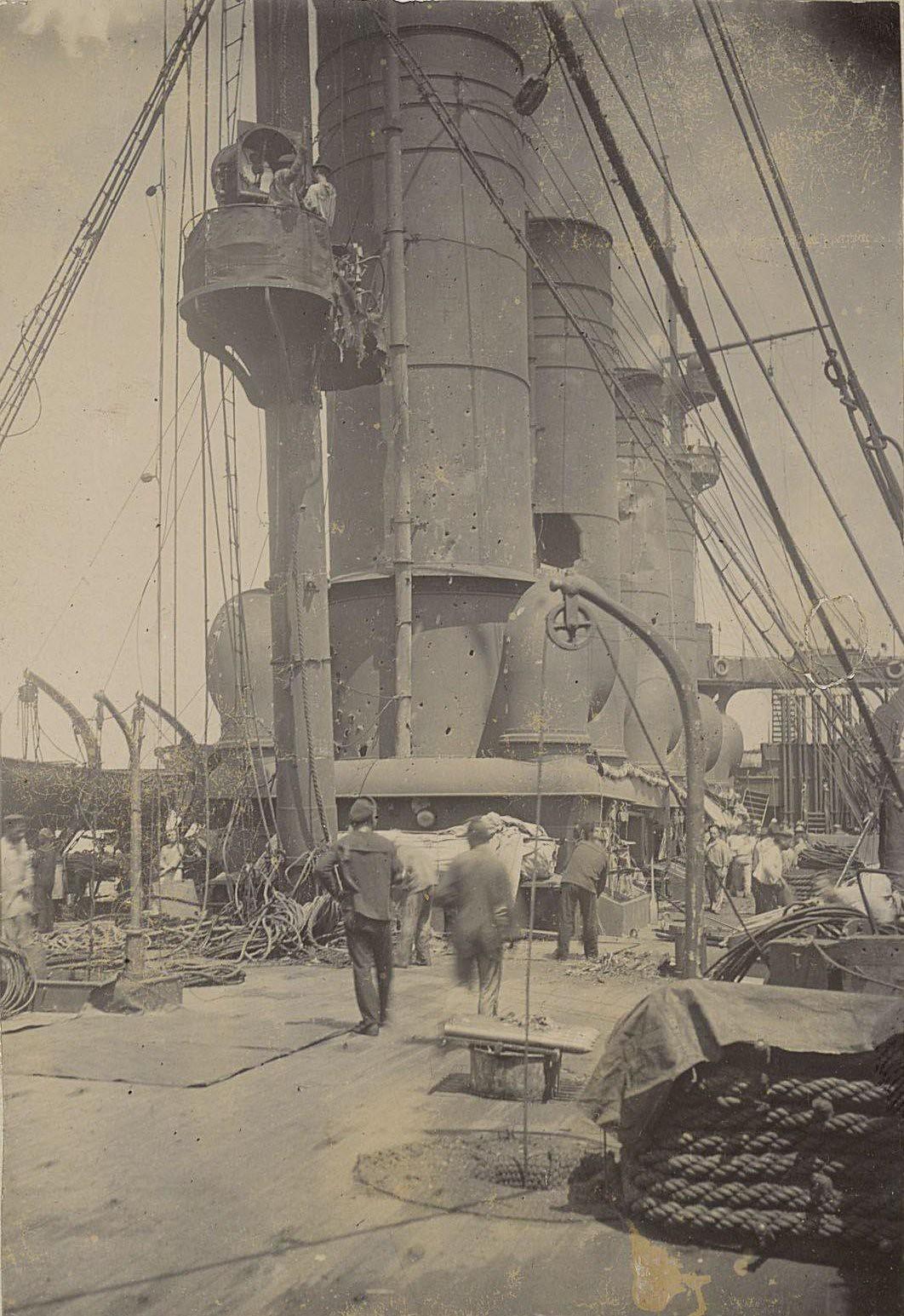 На палубе корабля. 1905 г.