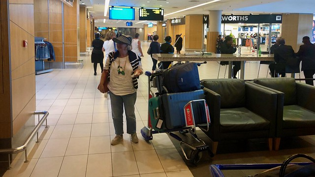 Ritsa with Luggage Trolley
