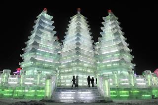 Beautiful Ice Sculpture Temple