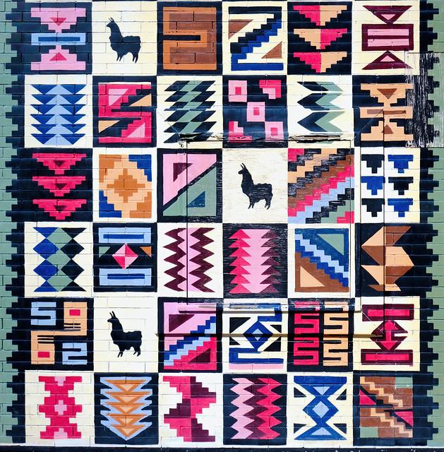 Peruvian patchwork.