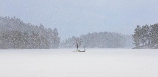 Sankka lumisade järvellä - Snowfall on the lake #3