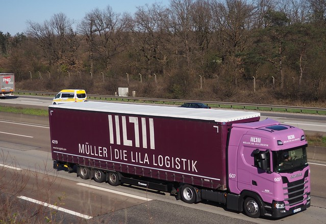 Truck - Autobahn A5 in Germany