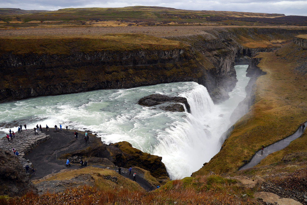 The right angle at Gullfoss