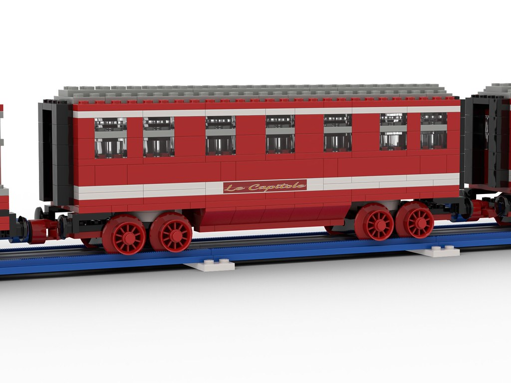 """Lego SNCF BB9200 12v - """"Capitole"""" - in """"Blue Era"""" style"""