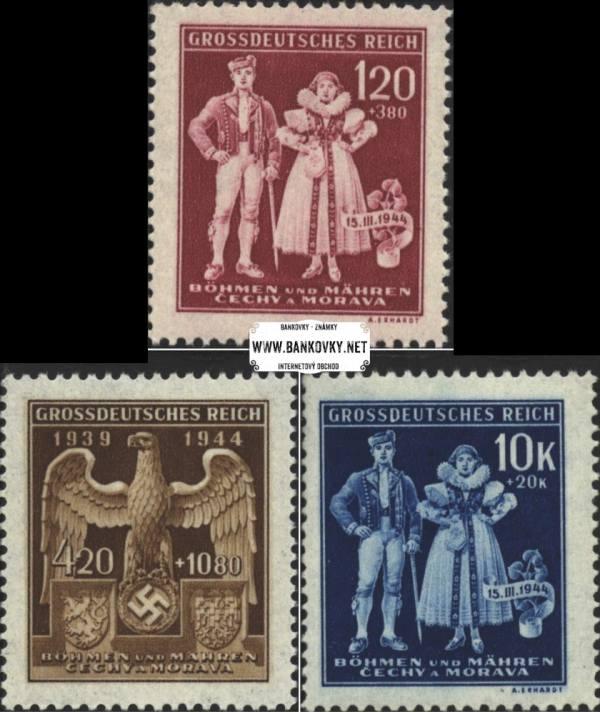 Známky Protektorát Čechy a Morava 1944, Protektorát MNH