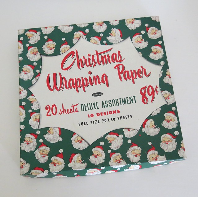 Vintage Whitman Christmas Wrapping Paper Box - Deluxe Assortment - 1950s