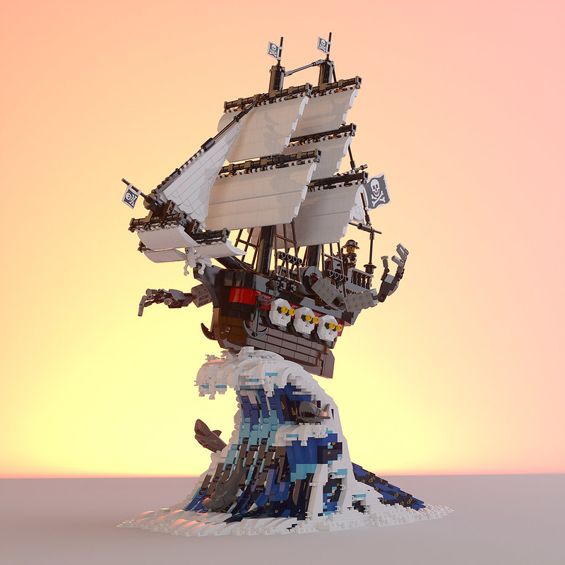 """Pirate Ship Mecha from """"Boss Battle / It's Time to Level Up"""""""