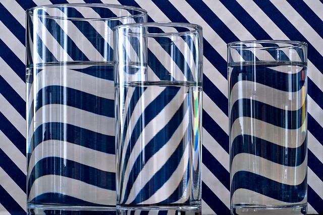 Transparence . Les verres pleins .
