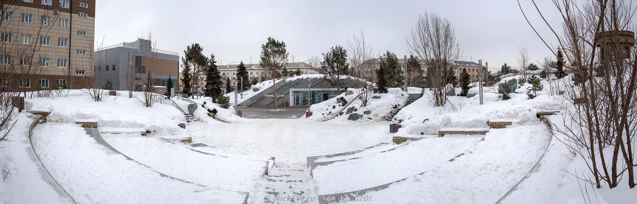 4. Амфитеатр - Парк Ангелов - панорама © NickFW.ru - 27.02.2020г.