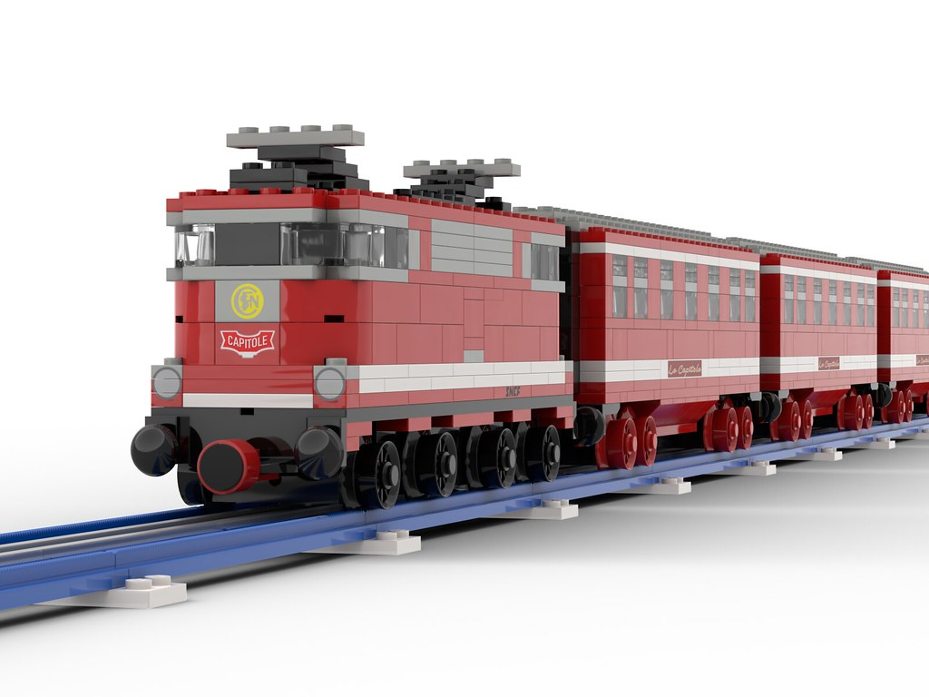 "Lego SNCF BB9200 12v - ""Capitole"" - in ""Blue Era"" style"