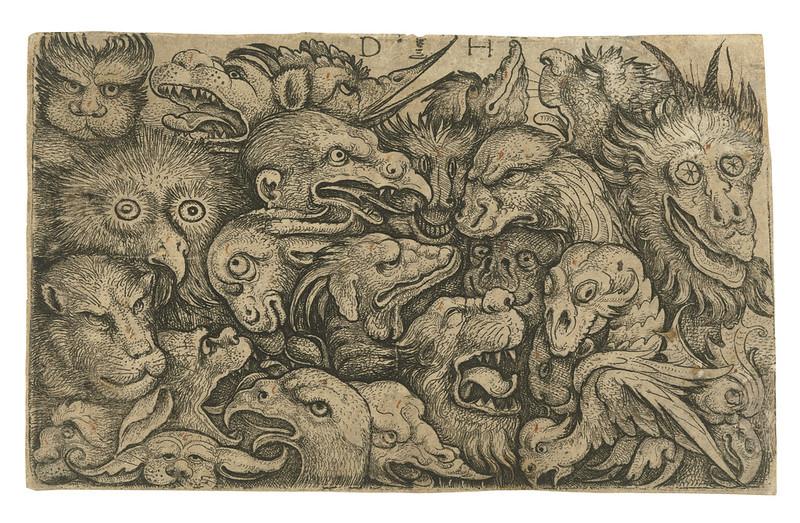 Daniel Hopfer - Heads of Grotesque Animals, 1505-36