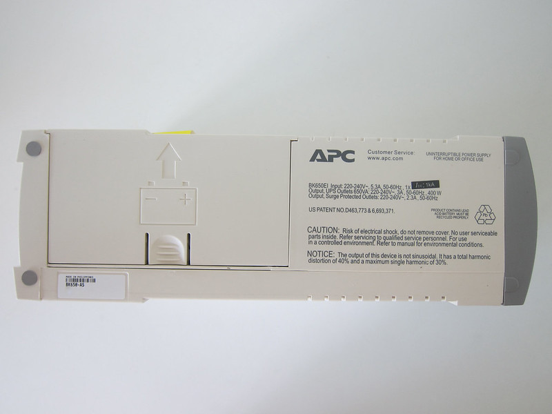 APC BACK-UPS BK650-AS USB 650VA - Bottom