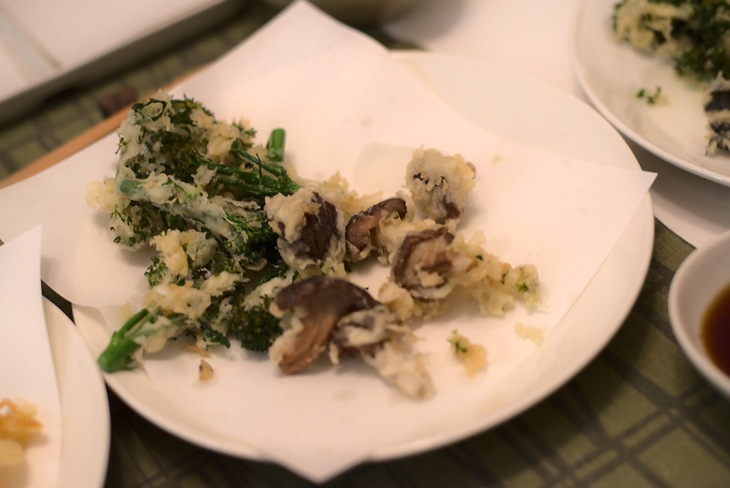 Shiitake and broccolini tempura