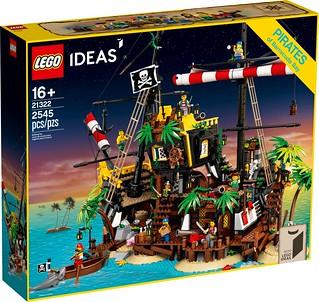 擁抱海盜夢的黃金歲月再來! LEGO 21322 Ideas 系列【梭魚灣海盜】Pirates of Barracuda Bay 竟然能將殘骸重新拼成一艘充滿回憶的海盜船啊~