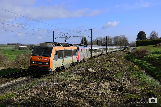 07/03/2020 - BB26234 + BB26016 + RC   Train n°3303 : Paris Saint-Lazare > Cherbourg