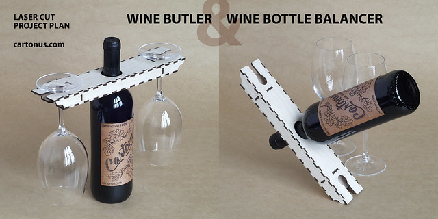 Wine bottle balancer & Wine butler
